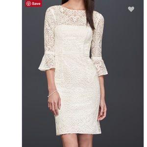 DB Studio Illusion Lace Wedding Dress